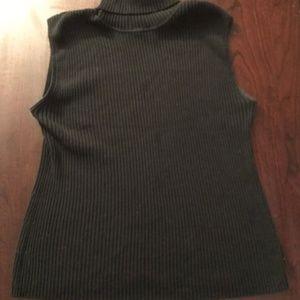 Chico's Black Ribbed Turtleneck Size 2 ( size L)